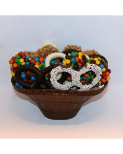Edible Basket with Chocolate Covered Pretzels