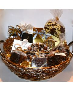 Gold and Silver Holiday Gift Basket