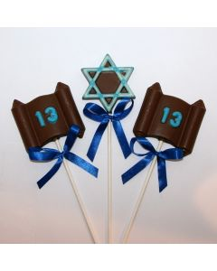 Mitzvah Candlelighting Chocolate Lollys