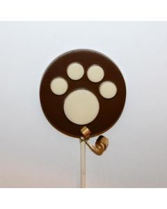 Paw Print Disc Lolly